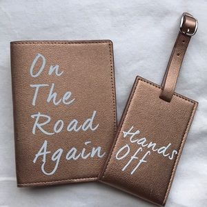 Brand new passport cover and luggage tag